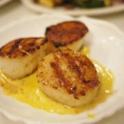 La Mancha Grilled Scallops, Saffron Sauce