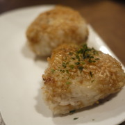 Yakioni:  Grilled Rice Ball (Soy Sauce & Better Soy Sauce)