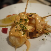 Ebimayo:  Deep Fried Prawn Skewers w/ House Cocktail Sauce