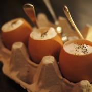 Grapefruit Sorbet w/ Panna Cotta Custard